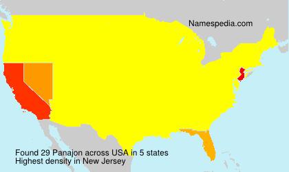 Surname Panajon in USA