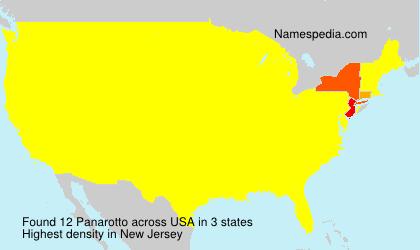 Familiennamen Panarotto - USA