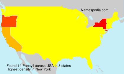 Surname Panayil in USA