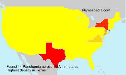 Surname Panchamia in USA