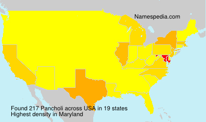 Surname Pancholi in USA