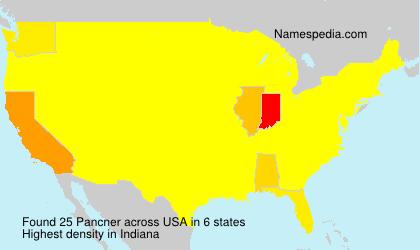 Surname Pancner in USA