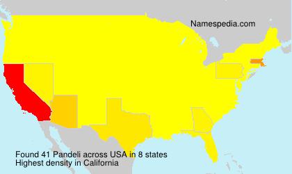 Surname Pandeli in USA