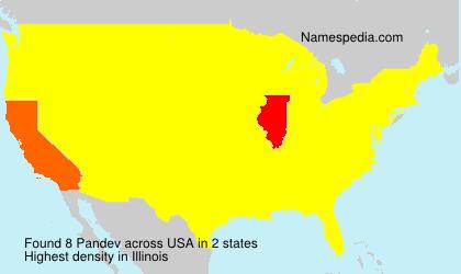 Surname Pandev in USA