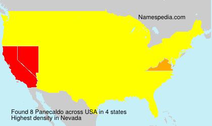 Surname Panecaldo in USA