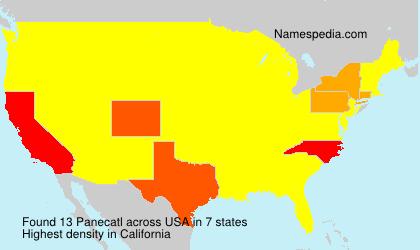 Surname Panecatl in USA