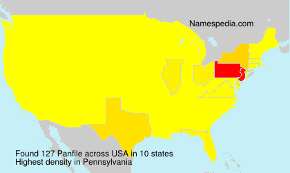 Surname Panfile in USA