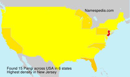 Familiennamen Pangi - USA