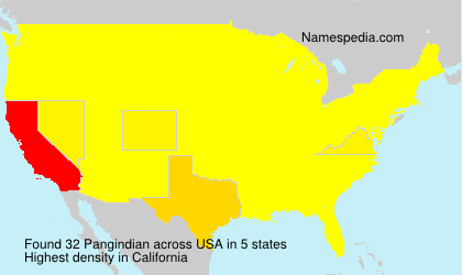 Surname Pangindian in USA