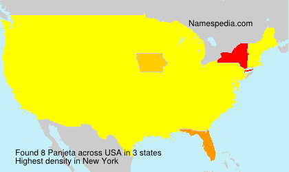 Surname Panjeta in USA