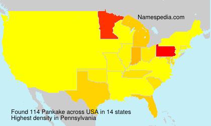 Surname Pankake in USA