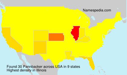 Surname Pannbacker in USA