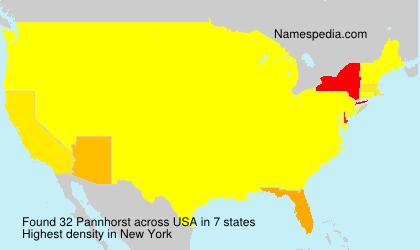 Surname Pannhorst in USA