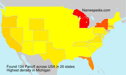 Surname Panoff in USA