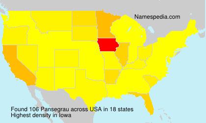 Familiennamen Pansegrau - USA