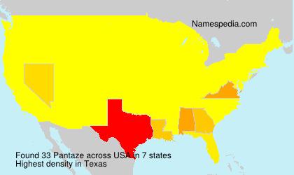 Surname Pantaze in USA