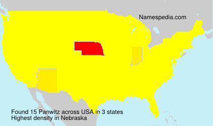 Surname Panwitz in USA