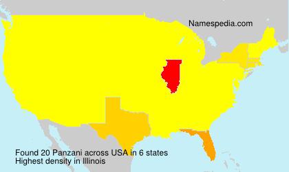 Familiennamen Panzani - USA