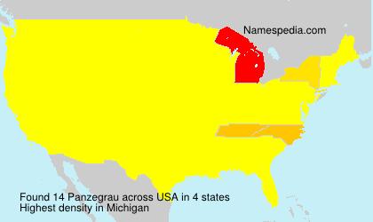 Familiennamen Panzegrau - USA