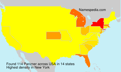 Surname Panzner in USA
