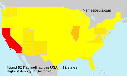 Surname Paolinelli in USA