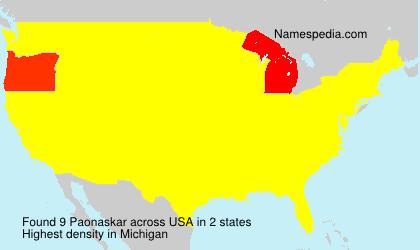 Surname Paonaskar in USA