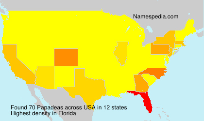 Surname Papadeas in USA