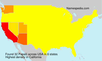 Surname Papalii in USA