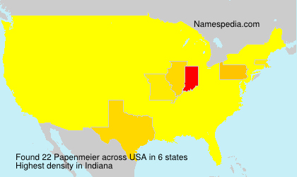 Surname Papenmeier in USA