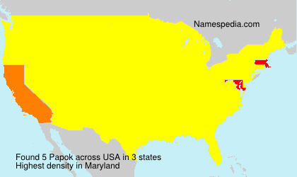 Surname Papok in USA