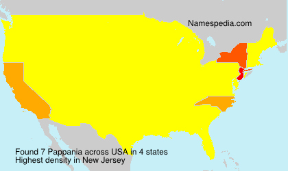 Surname Pappania in USA