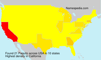 Surname Paquito in USA