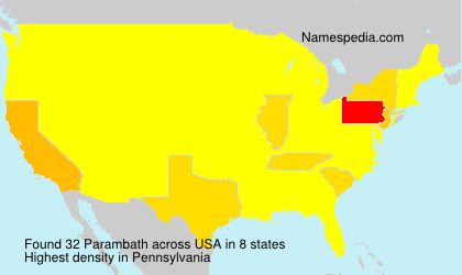 Surname Parambath in USA