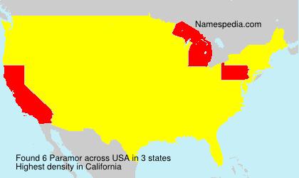 Surname Paramor in USA