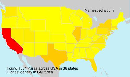 Surname Paras in USA