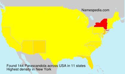 Surname Parascandola in USA