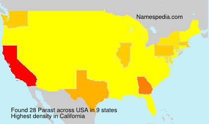 Surname Parast in USA