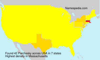 Surname Parchesky in USA