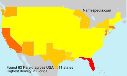 Surname Parejo in USA