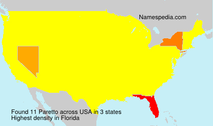 Surname Paretto in USA