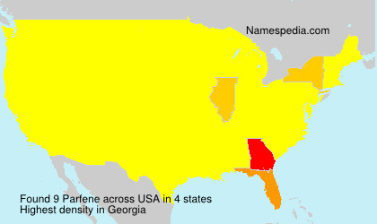 Surname Parfene in USA
