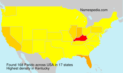 Surname Parido in USA