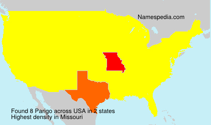 Familiennamen Parigo - USA