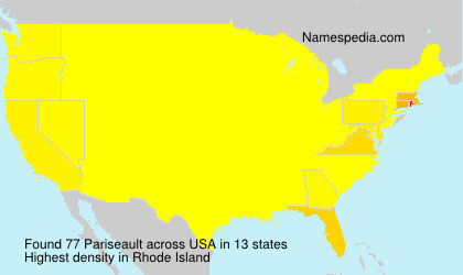 Surname Pariseault in USA