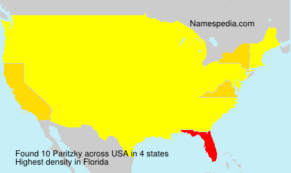 Surname Paritzky in USA