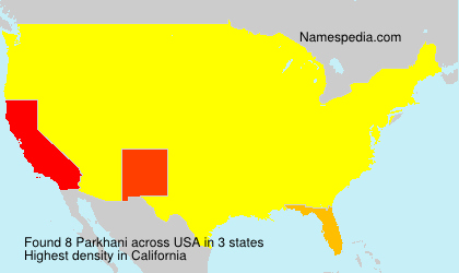 Surname Parkhani in USA