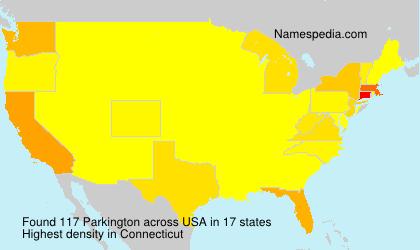 Surname Parkington in USA