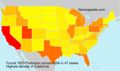 Surname Parkinson in USA