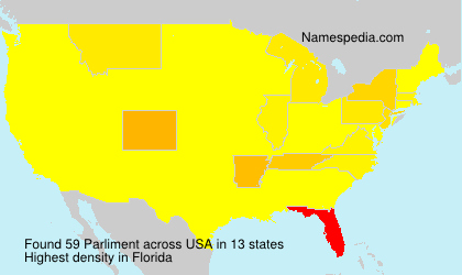 Familiennamen Parliment - USA