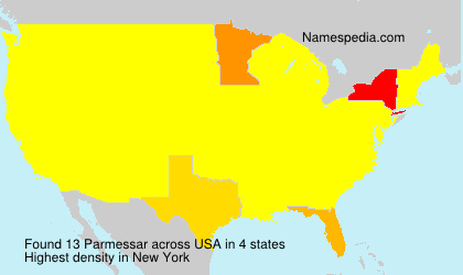 Surname Parmessar in USA
